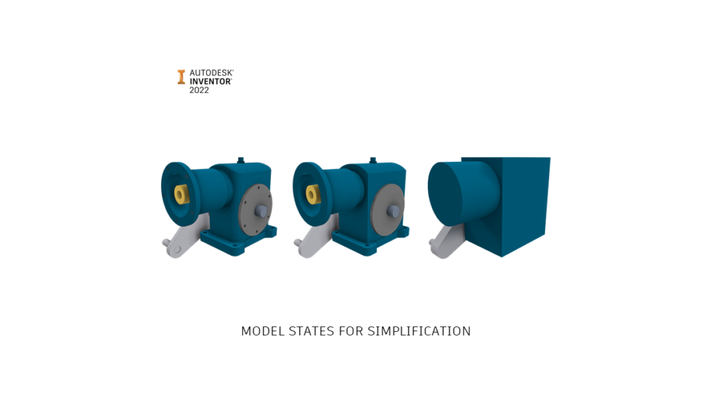 Autodesk Inventor 2022 model states for assembly simplification